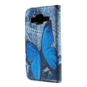 Puzdro na mobil Samsung Galaxy Core Prime - modrý motýl - 3