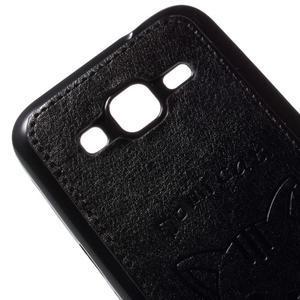 Mačička Domi kryt s koženkovým chrptom pre Samsung Galaxy Core Prime - čierný - 3