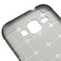 Square matný gélový obal pre Samsung Galaxy Core Prime - šedý - 3/5