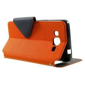 Safety puzdro s okienkom pre Samsung Galaxy Grand Prime - oranžové - 3