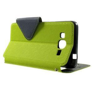 Safety puzdro s okienkom pre Samsung Galaxy Grand Prime - zelené - 3