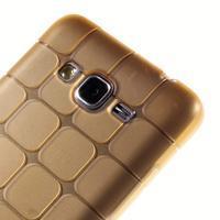 Square gélový obal pre Samsung Galaxy Grand Prime - zlatý - 3/5