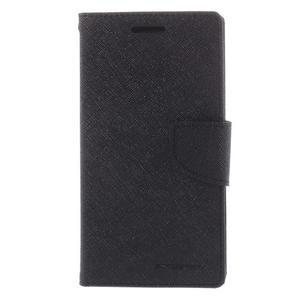 Diary PU kožené puzdro na mobil Samsung Galaxy Grand Prime - čierne - 3