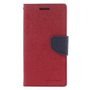 Diary PU kožené puzdro na mobil Samsung Galaxy Grand Prime - červené - 3