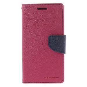 Diary PU kožené puzdro pre mobil Samsung Galaxy Grand Prime - rose - 3