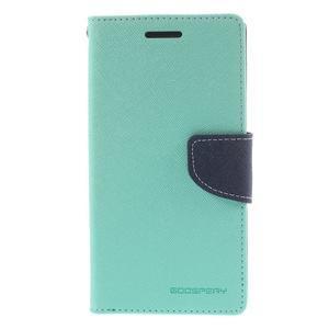 Diary PU kožené puzdro pre mobil Samsung Galaxy Grand Prime - cyan - 3
