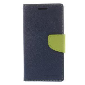 Diary PU kožené puzdro na mobil Samsung Galaxy Grand Prime - tmavomodré - 3