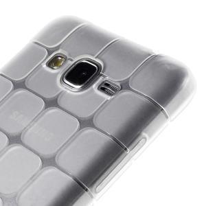 Square gélový obal na Samsung Galaxy Grand Prime biely - 3