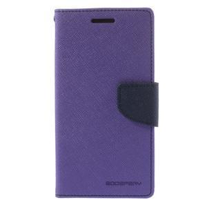 Diary PU kožené puzdro na mobil Samsung Galaxy Grand Prime - fialové - 3