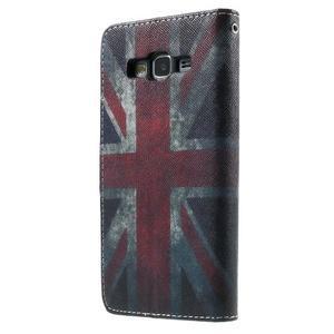 Wallet PU kožené puzdro pre mobil Samsung Galaxy Grand Prime - UK vlajka - 3