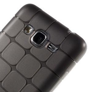 Square gélový obal na Samsung Galaxy Grand Prime šedý - 3