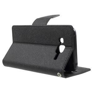 Diary štýlové peňaženkové puzdro pre Samsung Galaxy J5 - čierne - 3