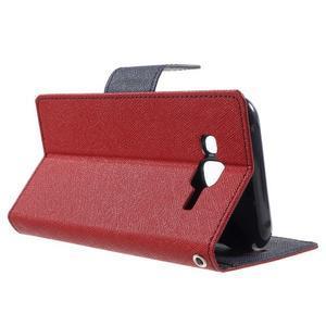 Diary štýlové peňaženkové puzdro pre Samsung Galaxy J5 -  červené - 3