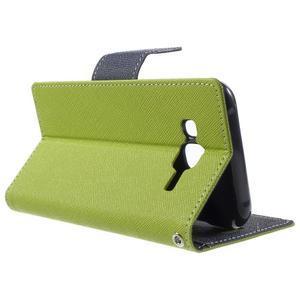 Diary štýlové peňaženkové puzdro pre Samsung Galaxy J5 -  zelené - 3