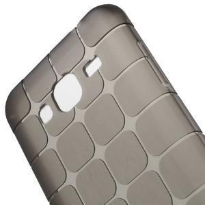 Square matný gélový obal na Samsung Galaxy J5 - šedý - 3
