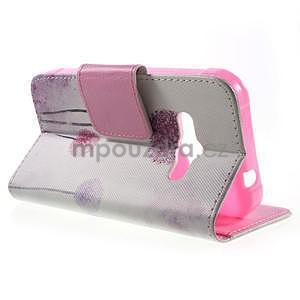 Vzorové peňaženkové puzdro na Samsung Galaxy Xcover 3 - púpava - 3