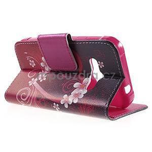 Vzorové peňaženkové puzdro na Samsung Galaxy Xcover 3 - srdce - 3