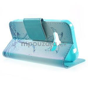 Vzorové peňaženkové puzdro pre Samsung Galaxy Xcover 3 - vodný kvet - 3