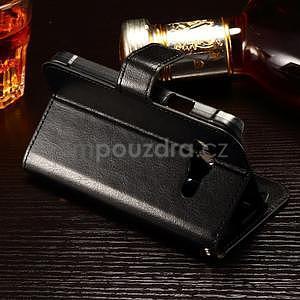 Koženkové peňaženkové puzdro pre Samsung Galaxy Xcover 3 - čierne - 3