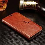 Koženkové peňaženkové puzdro pre Samsung Galaxy Xcover 3 - hnedé - 3/7
