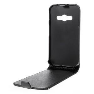 Flipové koženkové puzdro na Samsung Galaxy Xcover 3 - čierne - 3