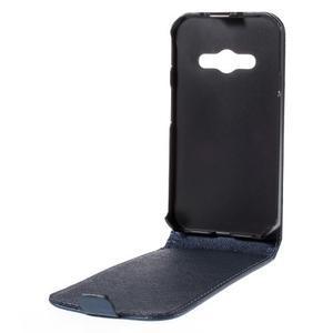 Flipové koženkové puzdro pre Samsung Galaxy Xcover 3 - tmavomodré - 3