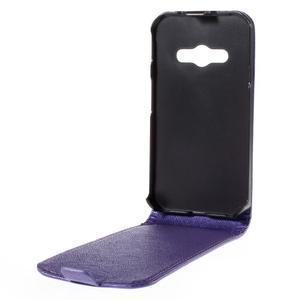 Flipové koženkové puzdro pre Samsung Galaxy Xcover 3 - fialové - 3