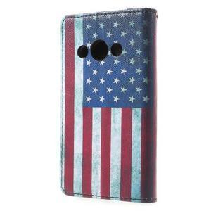 Štýlové peňaženkové puzdro pre Samsung Galaxy Xcover 3 -  US vlajka - 3