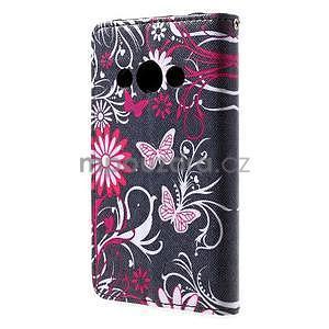 Štýlové peňaženkové puzdro pre Samsung Galaxy Xcover 3 - motýle - 3