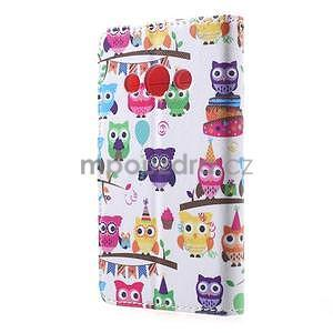 Štýlové peňaženkové puzdro pre Samsung Galaxy Xcover 3 - sovičky - 3
