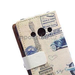 Peňaženkové púzdro na Samsung Galaxy Xcover 3 - staré auto - 3