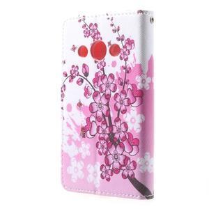 Štýlové peňaženkové puzdro pre Samsung Galaxy Xcover 3 - kvitnúca vetvička - 3