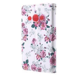 Štýlové peňaženkové puzdro pre Samsung Galaxy Xcover 3 - kvetinová koláž - 3