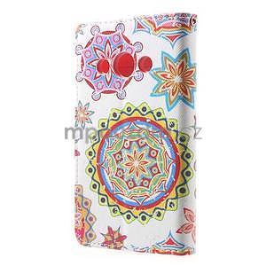 Štýlové peňaženkové puzdro pre Samsung Galaxy Xcover 3 - mandala - 3