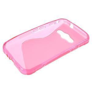 S-line gélový obal na Samsung Galaxy Xcover 3 - ružový - 3