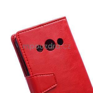 Červené koženkové puzdro Samsung Galaxy Xcover 3 - 3