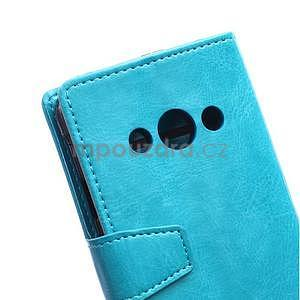 Modré koženkové puzdro Samsung Galaxy Xcover 3 - 3