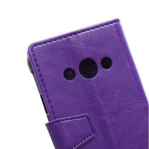 Fialové koženkové puzdro Samsung Galaxy Xcover 3 - 3