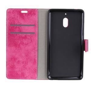 Retro PU kožené peňaženkové puzdro na mobil Nokia 2.1 - rose - 3