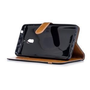 Jeans PU kožené/textilné puzdro na mobil Nokia 2.1 - čierne - 3