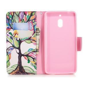 Print PU kožené flipové puzdro na mobil Nokia 2.1 - malovaný strom - 3