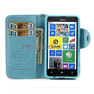 Peňaženkové puzdro s pútkom na Nokia Lumia 625 - svetlomodré - 3