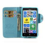 Peňaženkové puzdro s pútkom na Nokia Lumia 625 - svetlomodré - 3/5