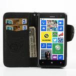 Peňaženkové puzdro s pútkom na Nokia Lumia 625 - čierne - 3/6