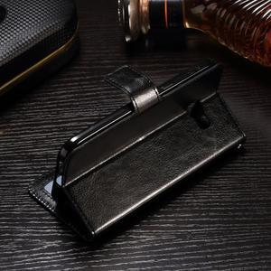 Francis PU kožené puzdro pre Samsung Galaxy A3 (2017) - čierne - 3