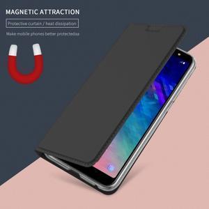 Cardy PU kožené puzdro na Samsung Galaxy A6+ (2018) - čierne - 3