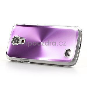 Metalický obal pre Samsung Galaxy S4 mini - fialový - 3