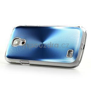 Metalický obal na Samsung Galaxy S4 mini - modrý - 3