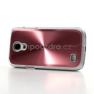 Metalický obal na Samsung Galaxy S4 mini - růžový - 3