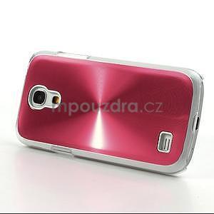 Metalický obal pre Samsung Galaxy S4 mini - červený - 3